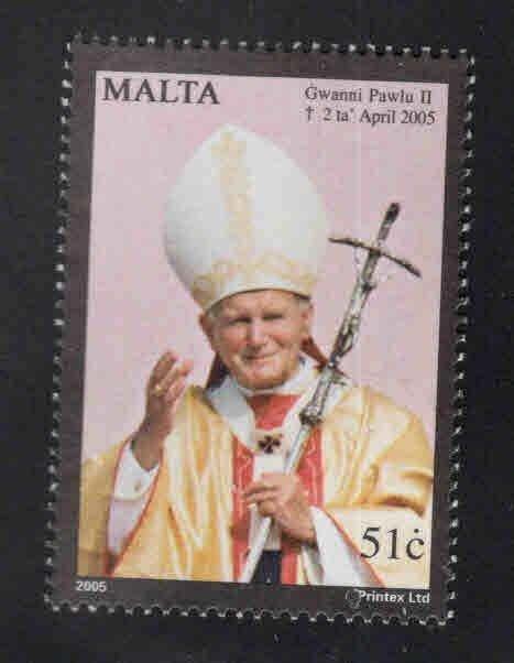 MALTA  Scott 1200 MNH** Pope JP2 stamp 2005
