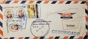 L) 1977 COLOMBIA, AIRPLANE, AVIANCA, MARIA DE J. PARAMO, INTERNATIONAL YEAR OF W