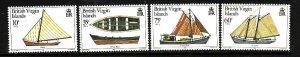 Virgin Is.-Sc#480-3-unused  NH set-Local Boats-Ships-id3-1984-