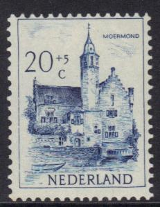 Netherlands   #B228  MH  1951  Cultural Welfare Castles  20 + 5 c