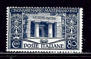 Italy 142 MH 1922 issue  bit of album offset in hinged mark    #2