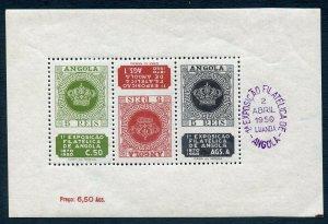 ANGOLA SCOTT #330a STAMPS OF 1870 SOUVENIR SHEET MNH AS SHOWN