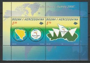 Bosnia and Herzegovina 2000 Olympic Games - Sydney MNH Block