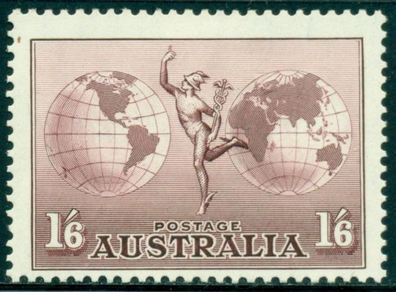 Australia Scott #C5 MLH Mercury and Hemisphere CV$8+
