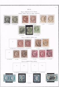france 1871 - 1875  used stamps ref r8480