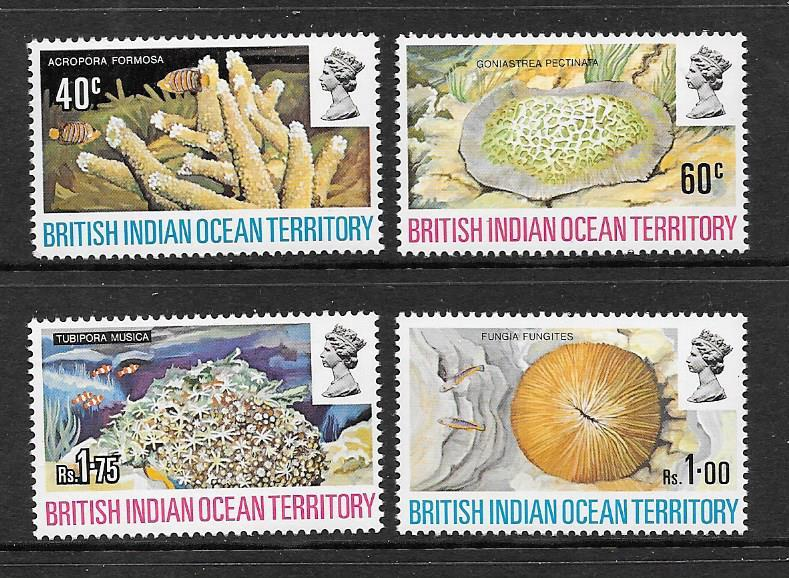 British Indian Ocean Territory Scott #44-47 Mint NH  Scott CV $18.00