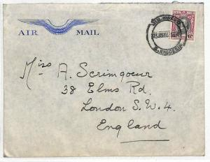 DD304 1937 Southern Rhodesia AIRMAIL *WINGS* Stationery London {samwells-covers}