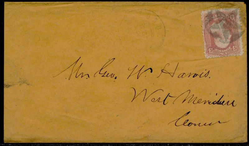 #65 ON COVER W/ HARTFORD, CT FANCY CANCEL BQ6412