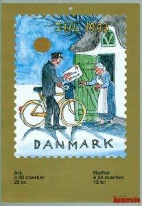Denmark. Christmas Seal. 1993.1 Post Office,Display,Advertising Sign.Mailman,Box