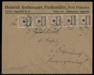 Germany High Inflation Cover Nov 19 1923 Mi326AW Last Day Rate 10 Billion  72317