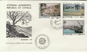Cyprus 1977 Country Pic Slogan CEPT Cancels ScenicView Stamps FDC Cover Rf 27673