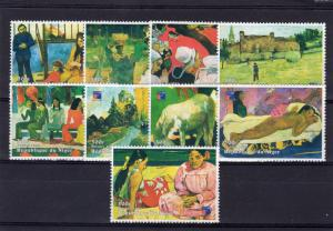 Niger 1998 YT#1293/1301 PAUL GAUGUIN PAINTINGS Set  (9) Perforated MNH