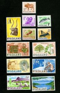 Nyasaland Stamps # 123-34 VF OG LH