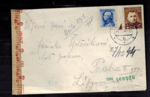 1943 Slovakia Censored cover to Prague SS