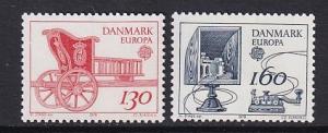 Denmark  #651-652  MNH  1979   Europa  postal history
