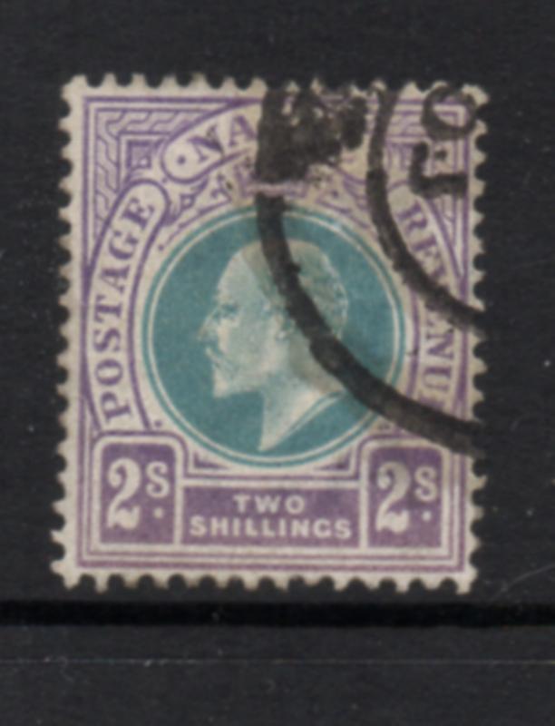 Natal Sc 91 1902 2/ violet & blue green Edward VII stamp used