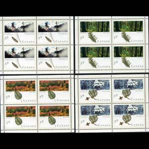 CANADA 1990 - Scott# 1283a-6a S/S(4) Forests NH