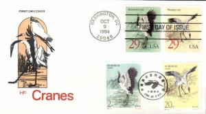 #2867-68 Cranes Joint Farnam FDC