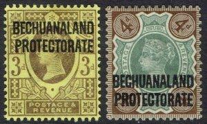BECHUANALAND 1897 QV GB 3D AND 4D