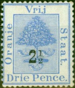 Orange Free State 1897 2 1/2d on 3d Ultramarine SG83 Fine Mtd Mint