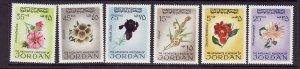 Jordan-Sc#576//586-unused NH flower stamps from the set-Flora-1969-70-