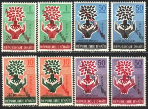 Haiti. 1960. 621-28. Year of refugee assistance, overprint. MNH.