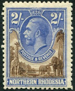 NORTHERN RHODESIA-1925-29 2/- Brown & Ultramarine Sg 11 LIGHTLY MOUNTED MINT