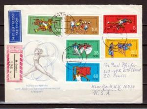 German Dem. Rep. Scott cat. 1834~B184. Youth Games issue. First day cover.