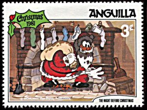 Anguilla 455, MNH, Disney The Night Before Christmas 1981
