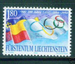 LIECHTENSTEIN Scott 1020 MNH** Olympic Flag stamp