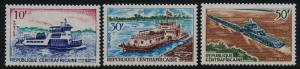 Central Africa 110-2 MNH River Boats