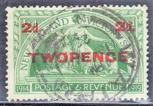 NEW ZEALAND SC# 174  USED OVERPRINT PEACE & BRITISH LION  SEE SCAN