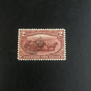Scott# 286 Trans-Mississippi Issue  2c Copper Red  Used XF  Grade 90