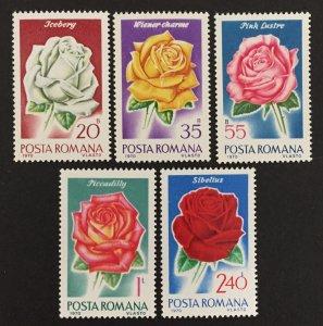 Romania 1970 #2192//7, NO 2196(5), Flowers, MNH.