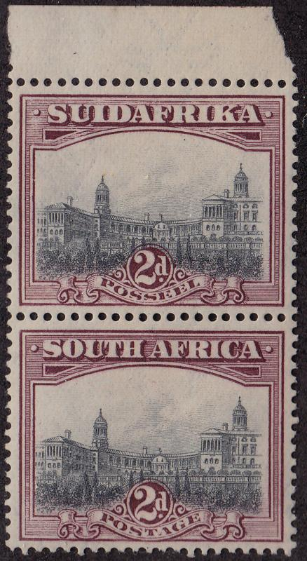 SOUTH AFRICA MNH Scott # 26c Building Perf 14 x 13.5 pair (2 Stamps)