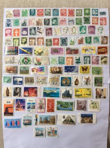 German 100+ stamps - Lot D