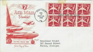 United States 1960 ST.Louis Cancel Planes Airmail FDC Stamps Blocks Cover  25171