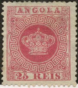 Angola, Scott #4, Unused, Hinged