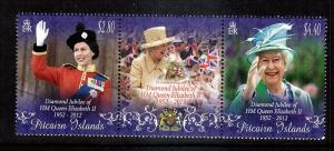 Diamond Jubilee  2012...Pitcarin..with label...mnh