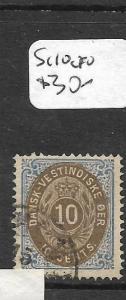 DANISH WEST INDIES  (P1304B) SG  10    VFU