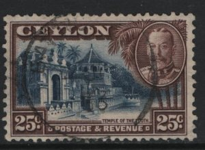 CEYLON, 271, USED, 1935-36, Temple of Tooth Candy