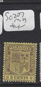 MAURITIUS   (P0810B)  ARMS 2 C  SG 207   MOG