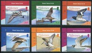 Alderney 2009 Sc 344-349 Birds Turnstone Plover Curlew Oystcatcher CV $10.40
