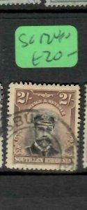 SOUTHERN RHODESIA (PP1005B)  KGV 2/-  SG 12     VFU