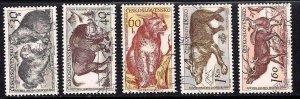 CZECHOSLOVAKIA - #933-34-35-36-37 - USED SET OF 5 STAMPS - 1959 - CZECH657DTS16