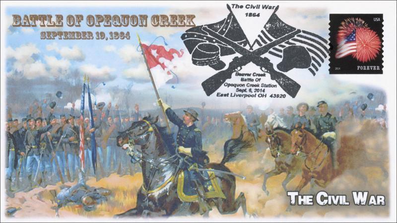 2014 Battle of Opequon Creek, Civil War, B/w Pictorial Item 14-108