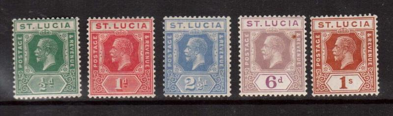 St Lucia #43 - #48 VF Mint