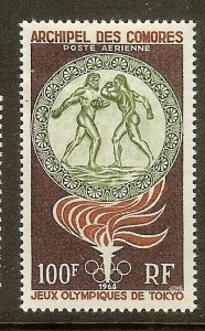Comoro Islands, Scott #C12, 100fr Olympic Games, MH