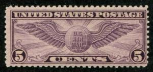 USA SC# C12 Winged Globe p10-1/2x11 5c MLH