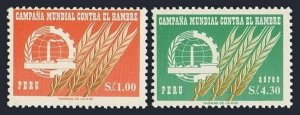 Peru 489,C190,MNH.Michel 636-637. FAO Freedom from Hunger campaign,1963.